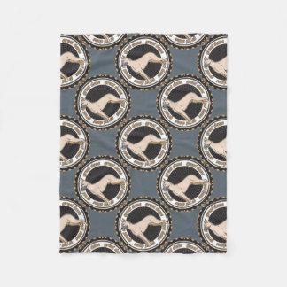 Dog Lover Great Dane Grey Tiled Fleece Blanket