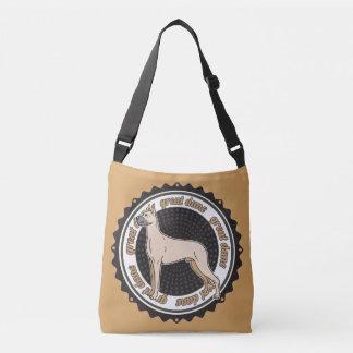 Dog Lover Great Dane Tan BackGround Crossbody Bag