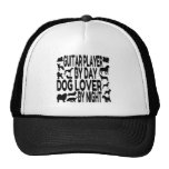 Dog Lover Guitar Player Mesh Hats