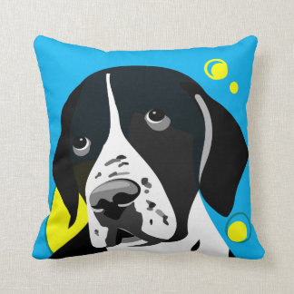 Dog Lover Home Decor Black and White Pointer Cushion