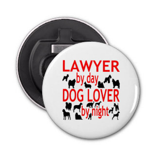 Dog Lover Lawyer in Red Bottle Opener
