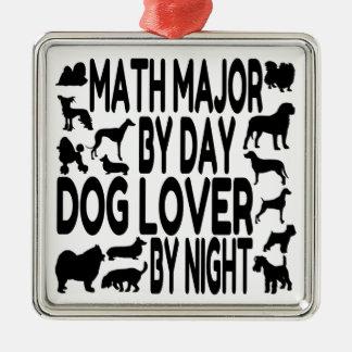 Dog Lover Math Major Metal Ornament