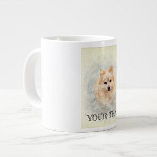 Dog lover mug! Ginger Pomeranian Dog Large Coffee Mug