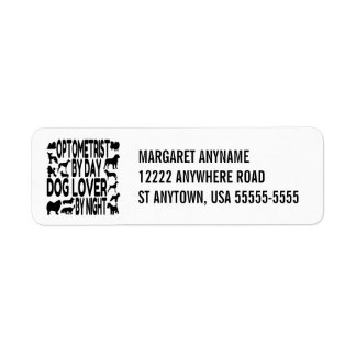 Dog Lover Optometrist Return Address Label