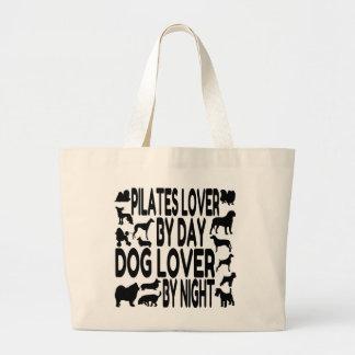 Dog Lover Pilates Lover Large Tote Bag