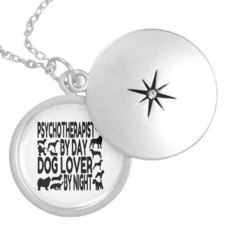 Dog Lover Psychotherapist Round Locket Necklace