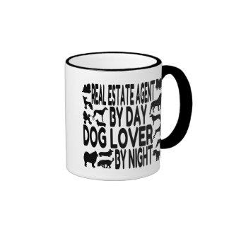 Dog Lover Real Estate Agent Ringer Mug