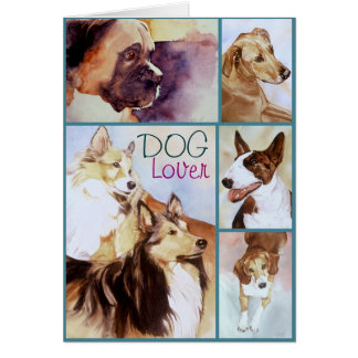 DOG Lover Watercolor Portraits Notecards Card