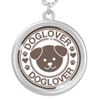 Dog Lover with puppy face Round Pendant Necklace