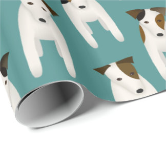 Dog lovers Jack Russell Terriers pattern Wrapping Paper
