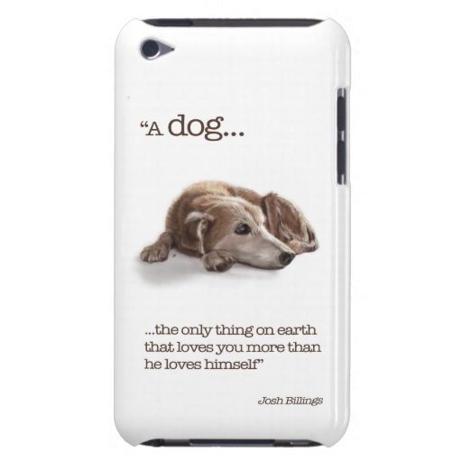 """Dog Lovers, """"Missing You!"""" iPod Case-Mate Case"""