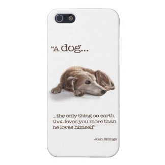 """Dog Lovers, """"Missing You!"""" Case For iPhone 5/5S"""