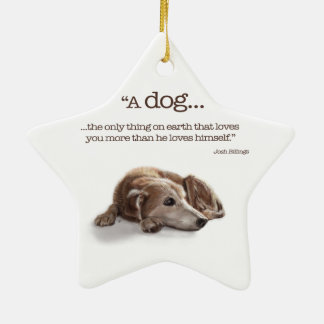Dog Lovers Missing You Christmas Tree Ornament