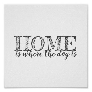 dog lovers quote poster gray and white