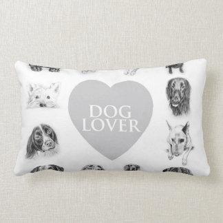 Dog Lovers Throw Pillow! Lumbar Cushion