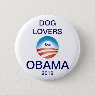 Dog Lovers Vote Obama 2012 6 Cm Round Badge