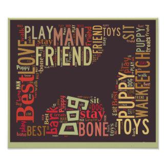 Dog lover's word cloud poster