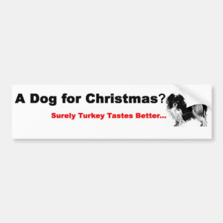 Dog Lovers Xmas Bumper Sticker