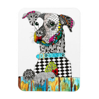 "Dog Magnet 3""x4"" (You can Customize)"