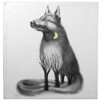 Dog - mascot, graphics. napkin
