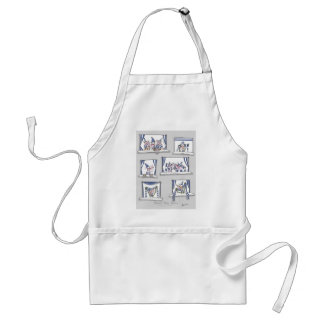 dog match day blues standard apron