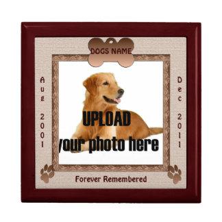 Dog Memorial Brown Tones Gift Box