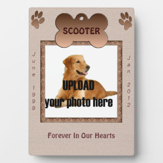 Dog Memorial Brown Tones Plaque