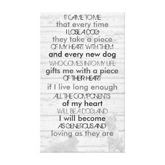 Dog Memorial Canvas Print