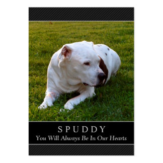 Dog Memorial Card - Modern Black Photo Card Pack Of Chubby Business Cards