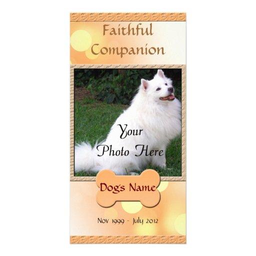 Dog Memorial Faithful Companion Custom Photo Card