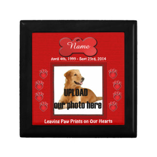 Dog Memorial Leaving Paw Prints on Our Hearts Gift Box