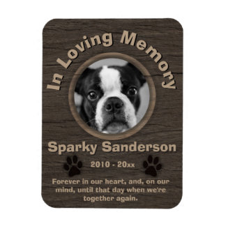 Dog Memorial Rectangular Photo Magnet