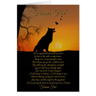 Dog Memorial Sympathy Tribute Card