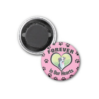 Dog Memorial with Paw Prints Magnet