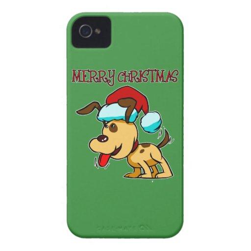Dog Merry Christmas Blackberry Phone Case Blackberry Bold Case