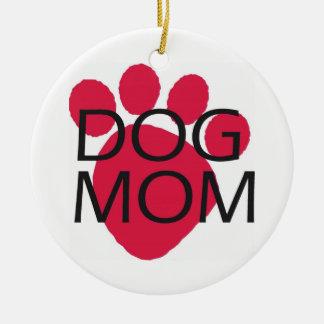 Dog Mom Ceramic Ornament