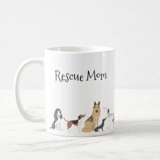 Dog Mom Dog Dad Rescue Mom Dog Breeds Coffee Mug