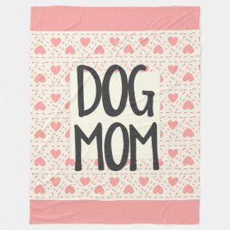 Dog Mom Large Fleece Blanket