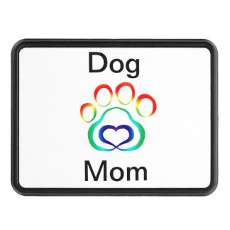 Dog Mom Pawprint Trailer Hitch Cover Tow Hitch Cover