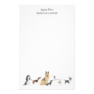 Dog Mom Rescue Mom Dad Dog Breeds Stationery
