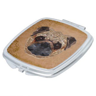 Dog Mosaic Compact Mirrors
