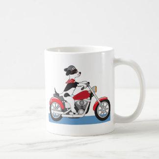 Dog Motorcycle Basic White Mug