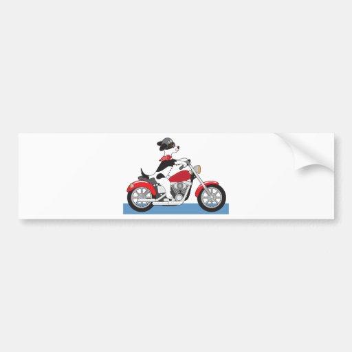 Dog Motorcycle Bumper Sticker