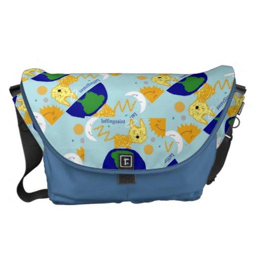 DOG n UNIVERSE KOZMIC KARMA LAFFINGSAINT Bag Messenger Bag