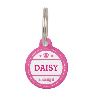 Dog Name Microchipped Call My People Pet ID Tags