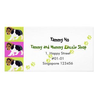 Dog Namecard Photo Card Template