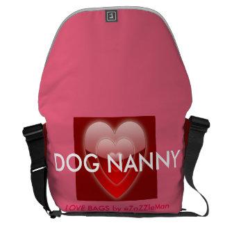 DOG NANNY Love Bag by eZaZZleMan.com Messenger Bags