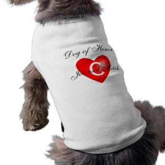 Dog of Honor Monogram C Wedding Dog Shirt