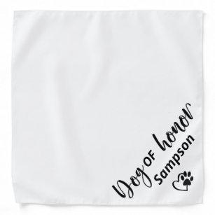 Dog Of Honour Wedding Pet  Personalised name Bandana