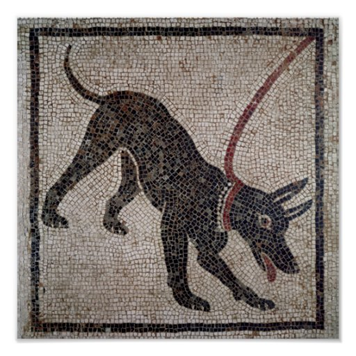 Dog on a leash, from Pompeii Posters